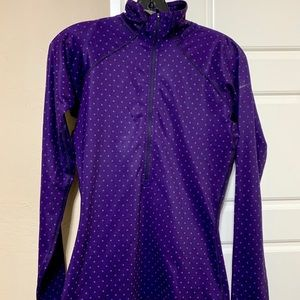 Nike purple polka dot dri fit pullover